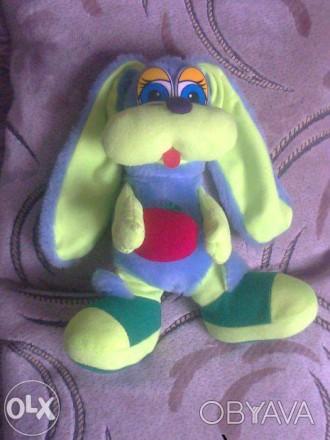 Обменяю или продам ( 50 грн ) игрушку зайчик из мягкого искуственного меха, без . Хмельницкий, Хмельницкая область. фото 1