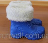 Полусапожки из материала ЭВА с меховым чулком-вкладышем Vitaliya для мальчика, Т. Киев. фото 1
