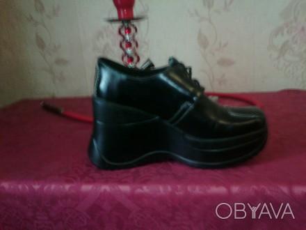 Туфли стильные новые натуральная кожа. Киев, Киевская область. фото 1
