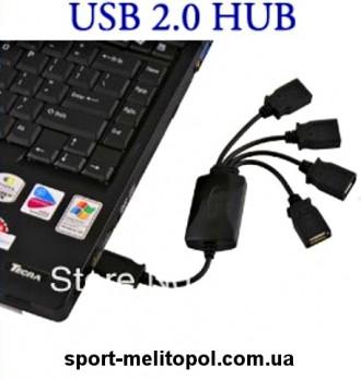 F03088-5 высокоскоростной Micro Mini 4 порта USB 2.0 USB хаб представляет собо. Мелитополь, Запорожская область. фото 3