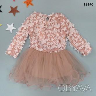 Нарядное платье-туника для девочки.