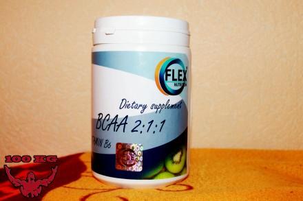 Flex Nutrition BCAA 2:1:1  500 g— 300грн Клубника и Киви!. Миргород. фото 1