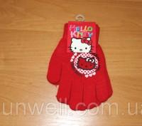 Перчатки для девочек Hello kitty ТМ Sun City, Размер: 15см Состав: 82% acrylic. Київ, Київська область. фото 9