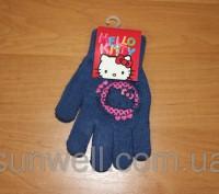 Перчатки для девочек Hello kitty ТМ Sun City, Размер: 15см Состав: 82% acrylic. Київ, Київська область. фото 6