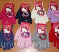 Перчатки для девочек Hello kitty ТМ Sun City, Размер: 15см Состав: 82% acrylic. Киев, Киевская область. фото 2