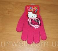 Перчатки для девочек Hello kitty ТМ Sun City, Размер: 15см Состав: 82% acrylic. Київ, Київська область. фото 3