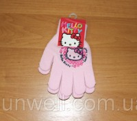 Перчатки для девочек Hello kitty ТМ Sun City, Размер: 15см Состав: 82% acrylic. Киев, Киевская область. фото 7