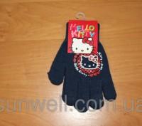 Перчатки для девочек Hello kitty ТМ Sun City, Размер: 15см Состав: 82% acrylic. Киев, Киевская область. фото 10