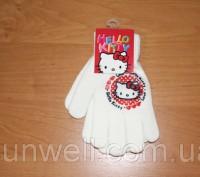 Перчатки для девочек Hello kitty ТМ Sun City, Размер: 15см Состав: 82% acrylic. Киев, Киевская область. фото 4