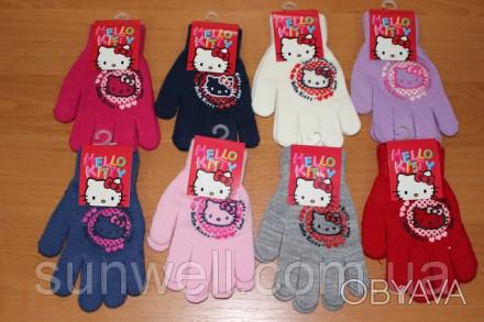 Перчатки для девочек Hello kitty ТМ Sun City, Размер: 15см Состав: 82% acrylic. Киев, Киевская область. фото 1