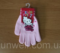 Перчатки для девочек Hello kitty ТМ Sun City, Размер: 16см Состав: 82% acrylic. Киев, Киевская область. фото 4