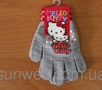 Перчатки для девочек Hello kitty ТМ Sun City, Размер: 16см Состав: 82% acrylic. Киев, Киевская область. фото 5