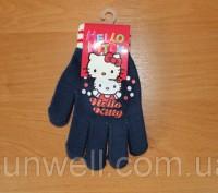 Перчатки для девочек Hello kitty ТМ Sun City, Размер: 16см Состав: 82% acrylic. Киев, Киевская область. фото 3