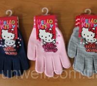 Перчатки для девочек Hello kitty ТМ Sun City, Размер: 16см Состав: 82% acrylic. Киев, Киевская область. фото 2