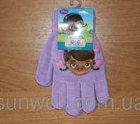 Перчатки для девочек доктор Плюшева Размер: 16см Состав: 82% acrylic, 1% elast. Киев, Киевская область. фото 7