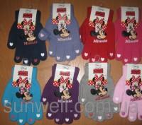 Перчатки для девочек Минни Маус ТМ Sun City, 16см. Киев. фото 1
