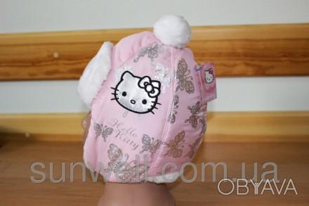 Детская зимняя шапка  Hello Kitty Состав: верх ― плащевая ткань, подкладка  ― . Киев, Киевская область. фото 1