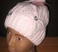 Детская демисезонная шапка для девочек Sun City Hello Kitty  Размеры: 52, 54  . Київ, Київська область. фото 3