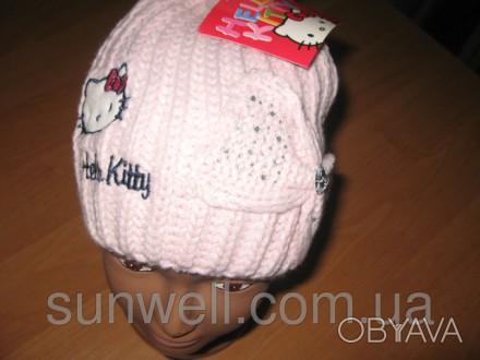 Детская демисезонная шапка для девочек Sun City Hello Kitty  Размеры: 52, 54  . Київ, Київська область. фото 1