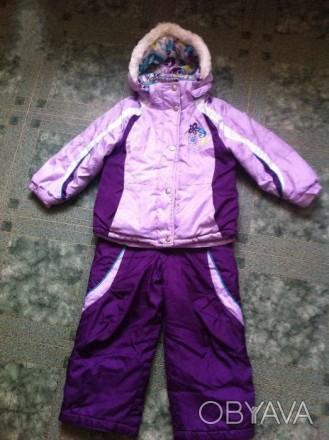 Зимний комбинезон для девочки, фирма Zerox Posur, красивого фиолетового цвета, п. Полтава, Полтавская область. фото 1