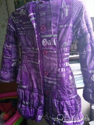 Недорого Куртка-пальто на девочку 7-10лет,очень теплая как новая. Павлоград, Днепропетровская область. фото 1