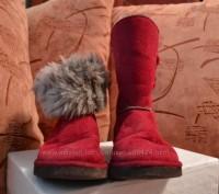 """Детские угги """"INBLU"""" темно красного цвета для осенне-зимнего периода. Материал в. Полтава, Полтавская область. фото 4"""