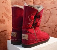 """Детские угги """"INBLU"""" темно красного цвета для осенне-зимнего периода. Материал в. Полтава, Полтавская область. фото 6"""