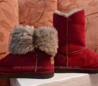 """Детские угги """"INBLU"""" темно красного цвета для осенне-зимнего периода. Материал в. Полтава, Полтавская область. фото 3"""
