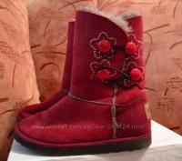 """Детские угги """"INBLU"""" темно красного цвета для осенне-зимнего периода. Материал в. Полтава, Полтавская область. фото 5"""