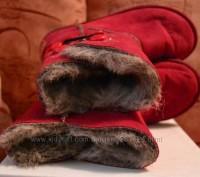 """Детские угги """"INBLU"""" темно красного цвета для осенне-зимнего периода. Материал в. Полтава, Полтавская область. фото 8"""