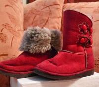 """Детские угги """"INBLU"""" темно красного цвета для осенне-зимнего периода. Материал в. Полтава, Полтавская область. фото 2"""