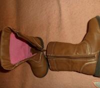 Сапожки английского бренда GEORGE коричневые демисезонные ые с аппликацией на на. Полтава, Полтавская область. фото 5