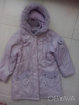 Куртка NEXT для девочки 5-6 лет, рост 116 см, нежного розово-фиолетового цвета, . Лубни, Полтавська область. фото 1