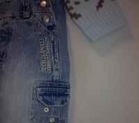 Комплект свитер ТСМ и джинсовый комбинезончик на кнопочках для смены памперса ро. Кременчуг, Полтавская область. фото 5
