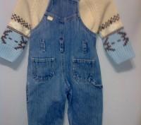 Комплект свитер ТСМ и джинсовый комбинезончик на кнопочках для смены памперса ро. Кременчуг, Полтавская область. фото 7