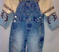 Комплект свитер ТСМ и джинсовый комбинезончик на кнопочках для смены памперса ро. Кременчуг, Полтавская область. фото 3