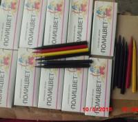 продам  цветные  восковые   карандаши   полицвет  новые  около  1500  пачек    в. Дніпро, Дніпропетровська область. фото 4