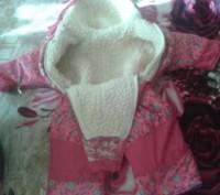 Продам комбинезон (осень-зима-весна) для девочки. Очень удобный, тёплый (цигейко. Кременчуг, Полтавская область. фото 3