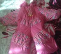 Продам комбинезон (осень-зима-весна) для девочки. Очень удобный, тёплый (цигейко. Кременчуг, Полтавская область. фото 4