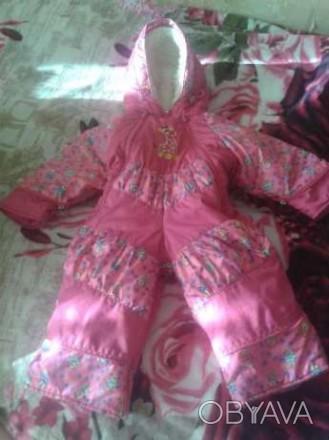 Продам комбинезон (осень-зима-весна) для девочки. Очень удобный, тёплый (цигейко. Кременчуг, Полтавская область. фото 1