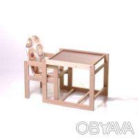 Детский стульчик -трансформер для кормления Наталка деревянный. Харьков. фото 1