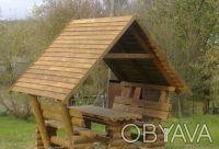 Беседки,бани ,мебель из бревна. Чернигов. фото 1