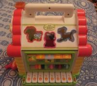 """Логический домик """"Теремок"""" — многофункциональная развивающая музыкальная игрушка. Борисполь, Киевская область. фото 8"""
