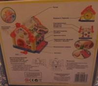 """Логический домик """"Теремок"""" — многофункциональная развивающая музыкальная игрушка. Борисполь, Киевская область. фото 7"""