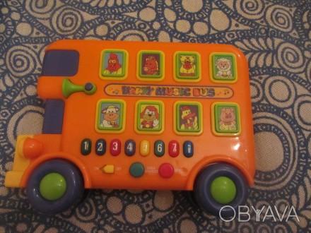 Музыкальный автобус, PlayGo. Крепкий, качественный пластик. Сертифицирован в Евр. Борисполь, Киевская область. фото 1