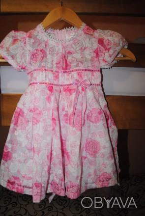 Красивое нежное платье для малышки, р.98см. Длина 52 см, ширина 27 см, по талии . Полтава, Полтавская область. фото 1