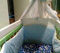 Дитяче дерев'яне ліжко на шарнірах.. Червоноград. фото 1