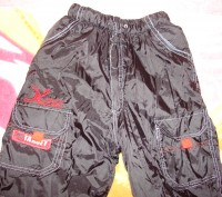 Чорні зимові (лижні) штани для хлопчика, розмір 28, нові, довжина штанини - 86 с. Червоноград, Львовская область. фото 3