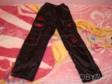 Чорні зимові (лижні) штани для хлопчика, розмір 28, нові, довжина штанини - 86 с. Червоноград, Львовская область. фото 1