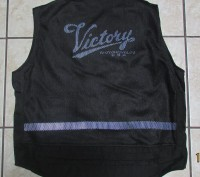 "Vintage Victory Motorcycle Mesh Vest, Reflective ""Victory"" under mesh! Size 2XL. Трускавец. фото 1"